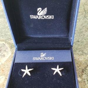 Swarovski Crystal Holly Starfish Earrings